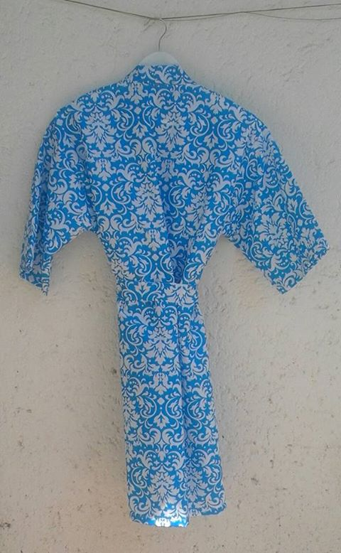 floral-robe--cotton--turquoise-blue