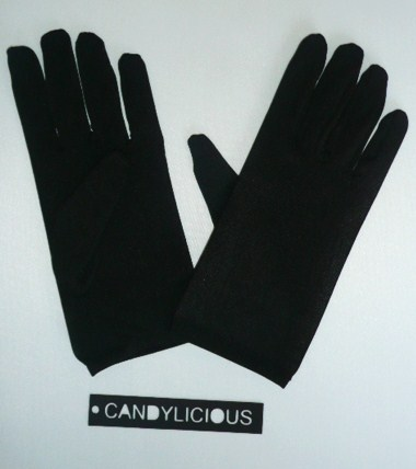 gloves--short-lycra--black