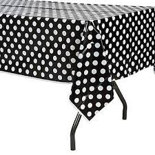 table-cloth-plastic--black-polka-dot-