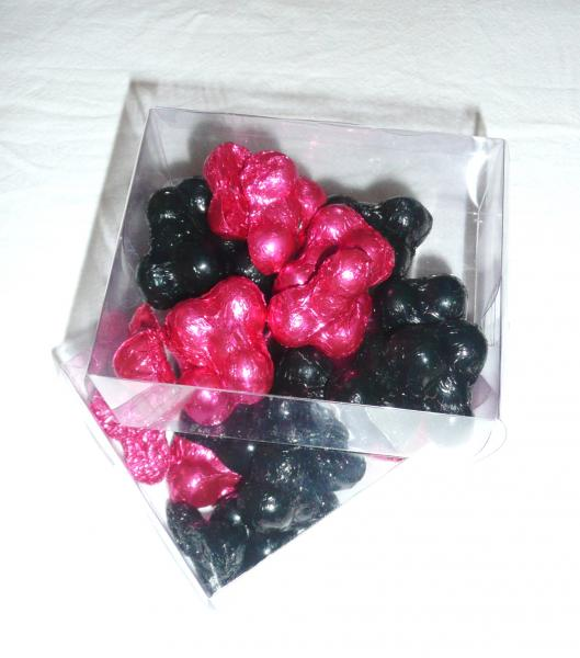 penis-choccies--pink-&amp-black-foil-wrappers