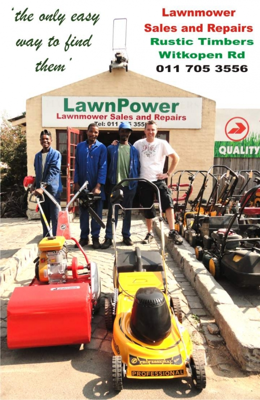 LawnPower Fourways  Tel: 011 705 3556  Rustic Timber Garden Centre Witkoppen Rd Fourways