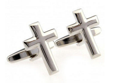 cuff016-cufflinks-cross--silver
