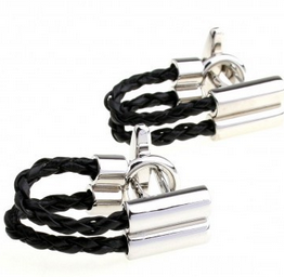 cuff028-cufflinks-black-cord-with-silver