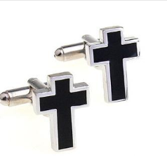 cuff014-cufflinks-cross--black-&amp-silver