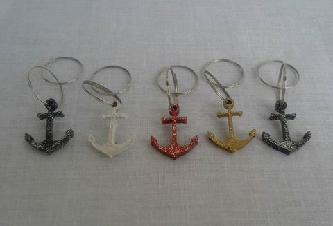 anchor--wine-glass-charms--5--set-