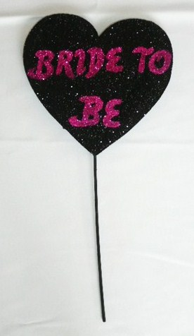 &quotbride&quot--wand-heart-polystyrene--black