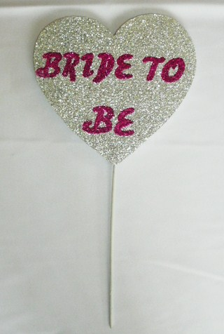 &quotbride&quot--wand-heart-polystyrene--silver