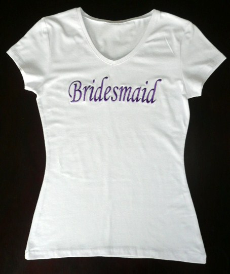 """-bridesmaid-""--white-t-shirt-"