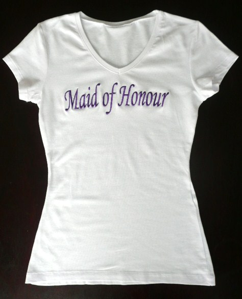 &quot-maid-of-honour-&quot--white-t-shirt-