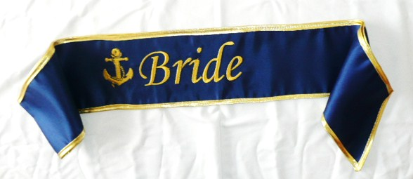 """bride-""--anchor--satin-sash-"