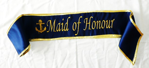 """maid-of-honour-""--anchor--satin-sash"