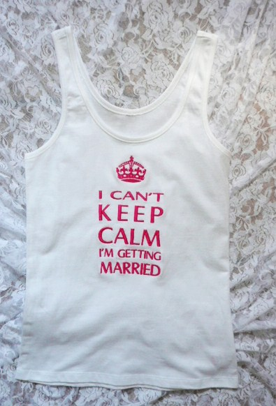 &quoti-cant-keep-calm-i&#039m-getting-married&quot--tank-top-