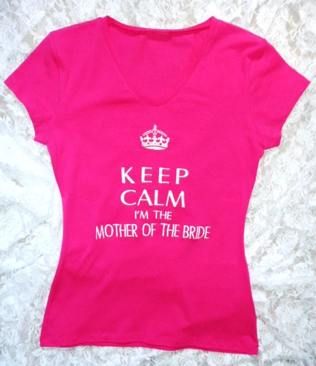&quotkeep-calm-i&#039m-the-mother-of-the-bride&quot--t-shirt-