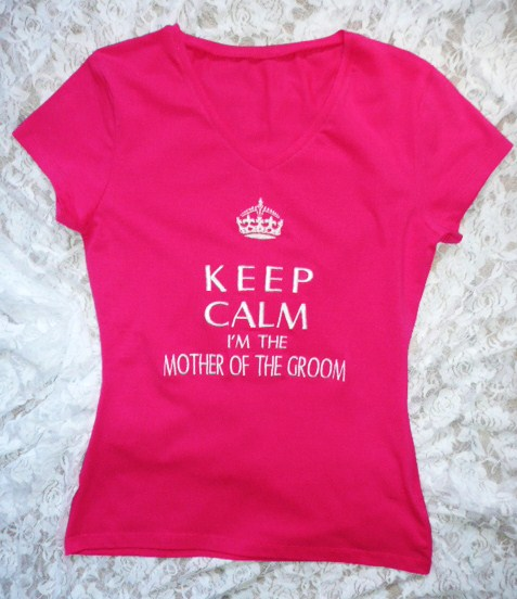 &quotkeep-calm-i&#039m-the-mother-of-the-groom&quot--t-shirt-