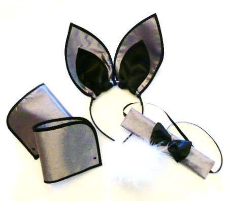 playboy-bunny-set-black-&amp-white---5piece-set-