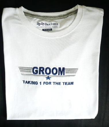 &quottaking-1-for-the-team&quot--groom-t-shirt