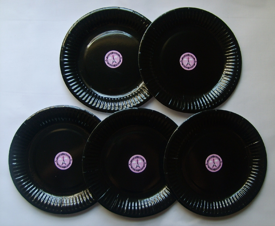 paper-plates--black--paris-themed--5-qty-