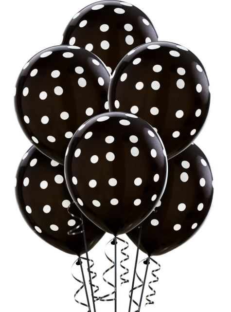 balloons--black-and-white-polka-dots--6-pack-