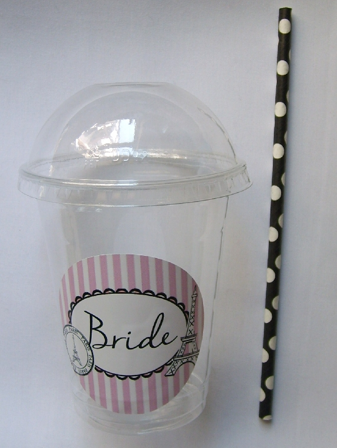 plastic-dome-cup--bride-paris-themed--straw--1-qty-