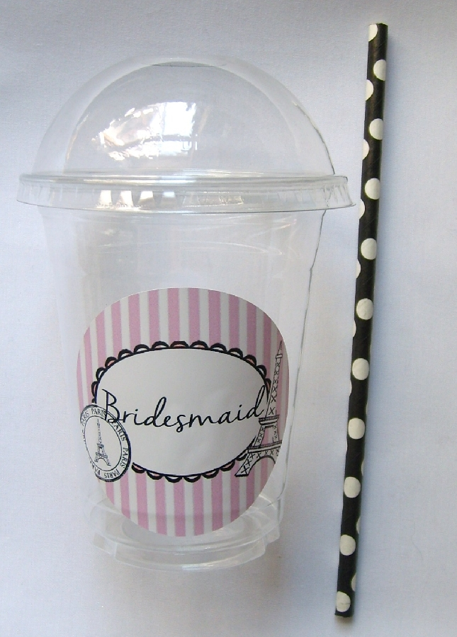 plastic-dome-cup--bridesmaid-paris-themed--straw--1-qty-