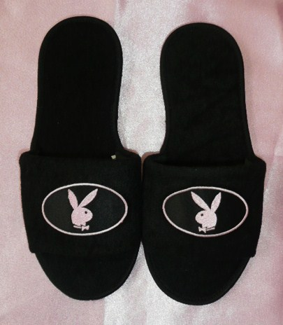 &quotplayboy-bunny&quot--slippers-baby-pink-and-black-