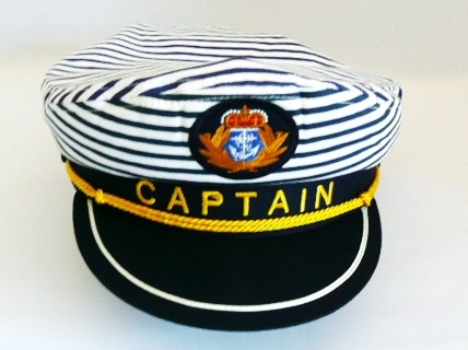 sailor--captains-hat--navy-&amp-white-stripe