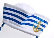 sailor-cap-white-&amp-blue-stripe-