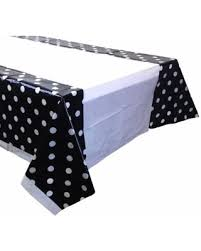 table-cloth-plastic--black-polka-dot-&amp-white-